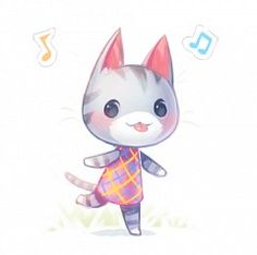 Animal Crossing New Leaf: Daily: Les plus recherchés - New Ideas Animal Crossing Qr, Animal Crossing Villagers, Animal Crossing Pocket Camp, Acnl Art, Ac New Leaf, Rainbow Painting, All About Animals, Chibi, Cute Animals