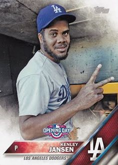 Dodgers Blue Heaven: 2016 Topps Opening Day - The Dodgers Base and Variation Cards    **   Short Print Variation - #OD-5 Kenley Jansen - SP Photo Variation
