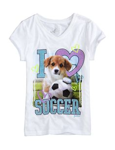 Girls Clothing | Sports | Photoreal Soccer Puppy Tee | Shop Justice