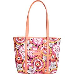 Women's Shoulder Bags - Vera Bradley Womens Small Trimmed Vera Pixie Blooms Tote ** More info could be found at the image url.