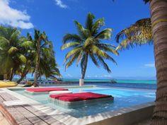Pool at the bar.  Rojo Beach Bar, Ambergris Caye, Belize