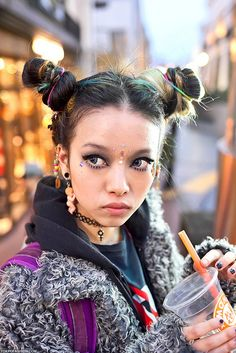 cute fashion harajuku buns