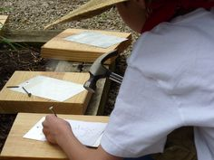 Pioneer Day activities: punching tin, butter, leather stamping, etc. Pioneer Trek, Pioneer Camp, Girl Scout Troop, Girl Scouts, Pioneer Day Activities, Learning Activities, Kansas Day, Pioneer Crafts, Tapestry Of Grace