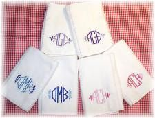 Monogrammed Burp Cloth Set by babyobaby.com now available at Etsy store babyobabycom!