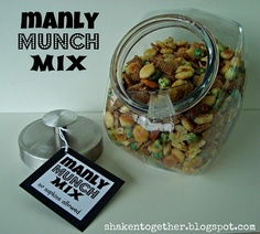 shaken together: {create this} manly munch mix & printable tags: tasty father's day gift