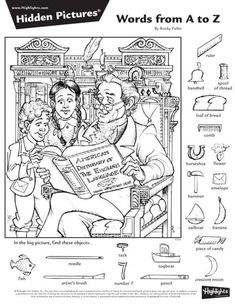 Family Coloring Pages, Coloring Books, Ivan Cruz, Highlights Hidden Pictures, Hidden Pictures Printables, Hidden Picture Puzzles, Barbie Coloring Pages, Library Activities, Sight Word Games