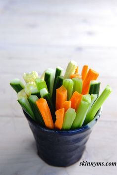 Para media mañana o media tarde. Vegetales para snaks.