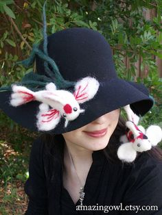 Needle Felted Koi Fish Hat - Red Black and White - Custom Made For You - on Etsy, $250.00