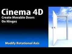 Cinema 4D Creating Doors on Hinges that swing open - YouTube