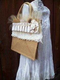 Shabby by ProvencalMarket Vintage Glam, French Vintage, Vintage Inspired, Rustic Wedding, Chic Wedding, Wedding Gifts, Burlap Tote, French Bohemian, Gypsy Caravan