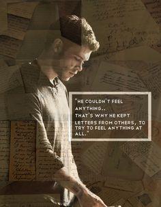 Klaus & the stolen love letters. Klaus Mikaelson - The Originals.♥