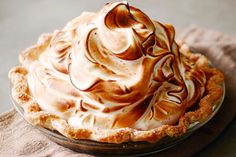 Taking a traditional pumpkin pie and upping the ante to Pumpkin Meringue Pie! The meringue topping brings this to a whole new level and you and your guests will not be disappointed. From Gaby Dalkin of What's Gaby Cooking. Meringue Pie, Meringue Powder, Swiss Meringue, Galette, Vegan, Biscotti, Stuffed Peppers, Baking, Dinner