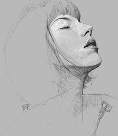 Alvin Chong - Quick portrait study of @katezambrano #artofalvin...