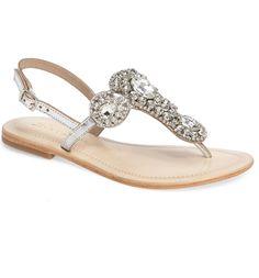 27e11ae27 Lauren Lorraine Bahama Crystal Embellished Sandal (Women)