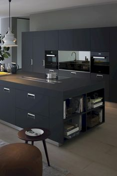 54 Luxury Black Kitchen Design and Decor Ideas