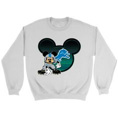 Detroit Lions Mickey Mouse Football Shirt NFL. Your favorite Football team 59a3fc506