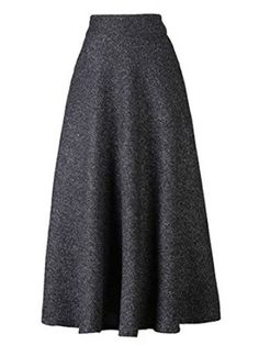 Choies Women's High Waist A-line Flared Long Skirt Winter Fall Midi Skirt at Amazon Women's Clothing store: