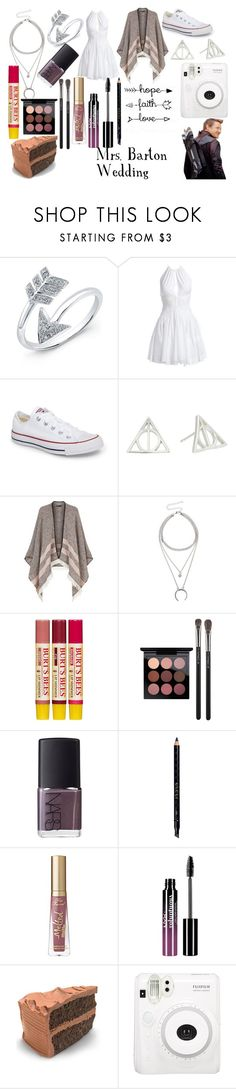 """""""Avengers Imagine"""" by nerdyform ❤ liked on Polyvore featuring Anne Sisteron, Alaïa, Converse, Alex and Ani, Maje, Burt's Bees, MAC Cosmetics, NARS Cosmetics, Gucci and Too Faced Cosmetics"""
