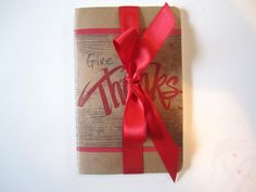 gratitude journals to give as favors to a thanksgiving party.