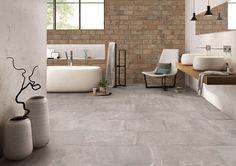 Kotto XS by #emilceramica #emilgroup #tiles #ceramics #floortiles #interiordesign #madeinitaly #architecture #style #bathroom #cenere #contemporary