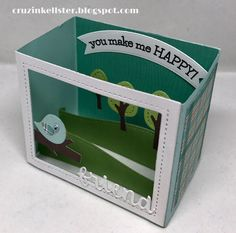 Hi, I just got the New Lawn Fawn Shadow Box Card die set and had to play. This set makes a really cute card that folds nice and fla. Pop Up Cards, Cute Cards, Lawn Fawn Stamps, Elizabeth Craft Designs, Interactive Cards, Explosion Box, Design Crafts, Shadow Box, Birthday Invitations