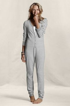 c11f8cd68e30 Women s Thermal Union Suit Pajamas from Lands  End Canvas - Jammies  )