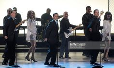 Cast of 'Jersey Boys' (L-R) Daniel Reichard, John Lloyd Young and Christian Hoff, nominee for Best Musical, perform 'Can't Take My Eyes Off Of You' and 'Who Loves You'