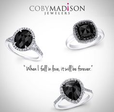 Coby Madison offers a large selection of unique designer inspired black diamond engagement rings with beautiful designs created to enhance the black diamond center. Make a bold statement with a exquisite black diamond ring as seen in new Sex In The City 2 movie. Carrie recieved a gorgeous engagement ring with black diamond for her engagement ring from Mr. Big. It was a really big black diamond ring.   Beautiful Black Diamond Engagement Ring @cobymadisonjewelry  #whittier #theonetruering…