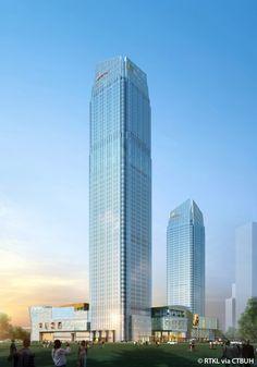 Hefei City Crossing Office Tower 2, Tianjin-China, 280 m, UC, architect-RTKL