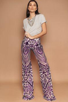 Purple Sequin Trousers