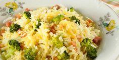 Receita de Arroz de forno com brócolis - Show de Receitas