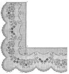 crochet em revista: Ponta recortada