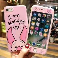 For iphone 7 7plus Cartoon Mickey phone Cases Cover + Tempered Glass Screen Protector Case for Apple iPhone 6 6s Plus 8 8plus X #iphonexscreenprotector,