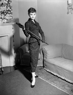 Rare Audrey Hepburn — Audrey Hepburn photographed at her London home for...