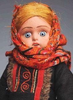 263: Lot of 3: Antique Ethnic Dolls. - 4