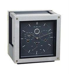 Hermle Monaco Modern-design Mantel Clock with Calendar