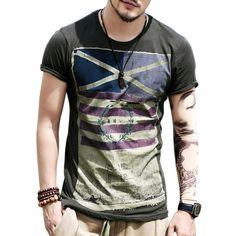 07f165f62 Brand New 2016 Summer Fashion Mens Short Sleeve T Shirt Streetwear Tops Hip  Hop Casual t-shirt tee shirt homme For Men