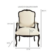 Louis XV Salon Chair. 699 in ticking stripe, walnut. 37 x 27 wide