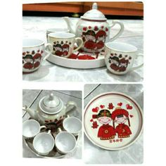 Tea set double happines
