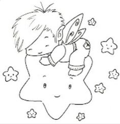 Sliekje digi Stamps: boy on a star Pattern Coloring Pages, Coloring Book Pages, Embroidery Patterns, Hand Embroidery, Machine Embroidery, Cute Clipart, Copics, Digital Stamps, Colorful Pictures
