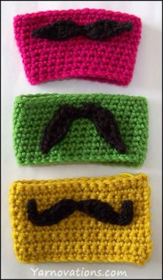 crocheted mustache options