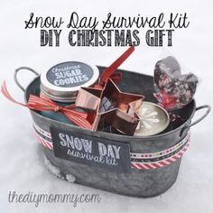 Best DIY Ideas for Wintertime - Snowy Day Survival Kit Christmas Gift - Winter Crafts with Snowflakes, Icicle Art and Projects, Wreaths, Woodland and Winter Wonderland Decor, Mason Jars and Dollar Store Ideas - Easy DIY Ideas to Decorate Home and Room for Winter - Creative Home Decor and Room Decorations for Adults, Teens and Kids http://diyjoy.com/diy-ideas-wintertime