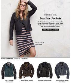 rockin' the leather jacket. Madewell