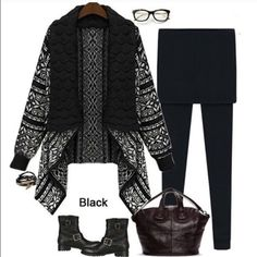 """Trendy soft Black cardigan loose knit Perfect for Fall and winter. Available in BOTH colors. Length:25"""" (Front) and 30"""" (Back). Bust: 34-39.5"""". Sleeve: 22.6"""" material: lambwool. Just restocked these again!☺️ Sweaters Cardigans"""