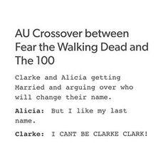Omg yessssss Clarke clark adorei achei tendência