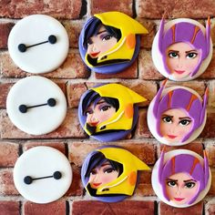 Baymax fondant cupcake toppers Big Hero by DsCustomToppers on Etsy