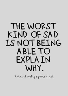The worst kind of sad jack bot being able to say why. - #bipolar #awareness #mentalhealth