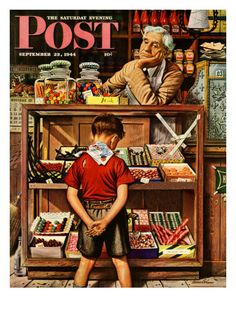 """Penny Candy,"" Saturday Evening Post Cover, September 23, 1944"