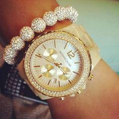 Girly MK watch and bracelet