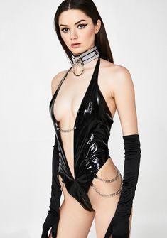 b4fee7a92556 Kitty Kat Club Vinyl Bodysuit